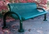 Picture of 4 ft. Bench with Back - Thermoplastic Coated Steel - Regal Style - Inground Mount