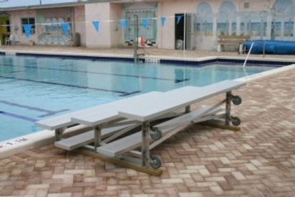 Picture of 15 ft. Tip and Roll 3 Row Bleachers - All Aluminum - Portable