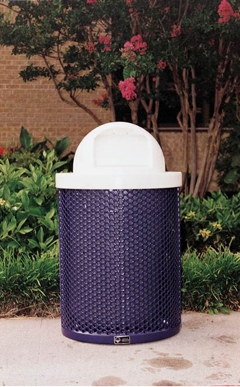Picture of 32 Gallon Perforated Trash Receptacle with Dome Top