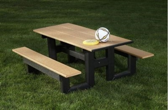 Picture of 8 Ft. Recycled Plastic Commercial Picnic Table - Portable