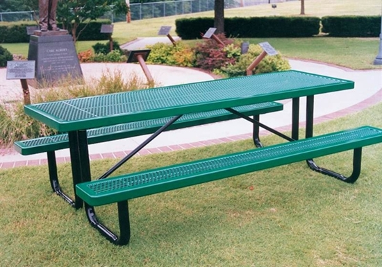Picture of 6 ft Rectangular Picnic Table - Thermoplastic Steel - Regal Style