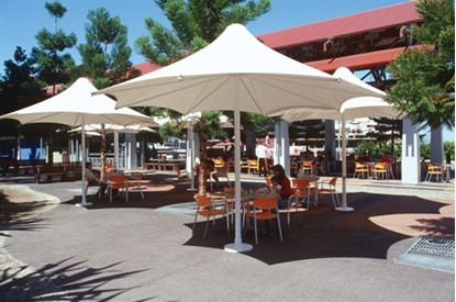 Picture of 18 ft Square Skyspan Umbrella PVC Coated Polyester with Aluminum Frame