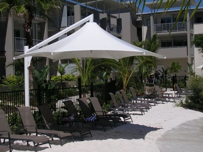 Picture of Skyspan 18 Ft Hexagon Cantilever Umbrella PVC Coated Polyester with Steel Frame
