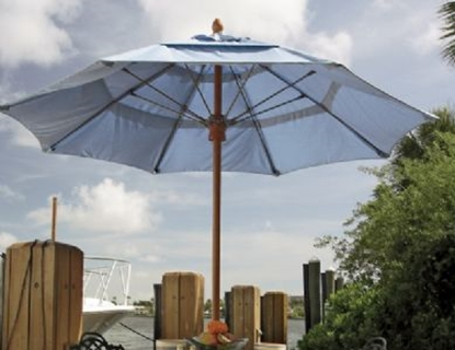 Picture of 11 ft. Octagonal Market Umbrella -Bridgewater Style - FiberTeak Pole - Marine Grade Fabric