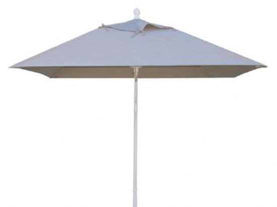 Picture of 6 ft. Square Market Umbrella - Augusta Style - Simulated Wood Pole - Marine Grade Fabric