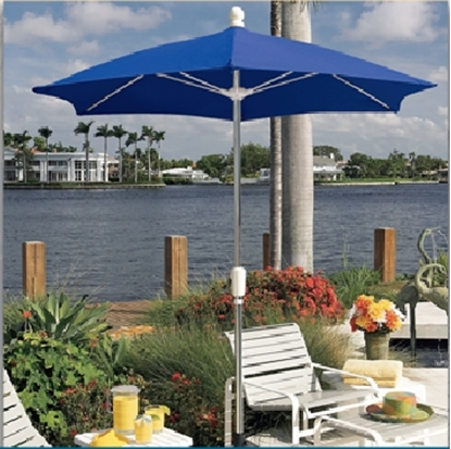 Picture of 7.5 ft. Hexagonal Patio Umbrella - Two Piece Aluminum Pole - Spun Acrylic Top