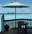 Picture of 8 ft. Octagonal Market Umbrella - Lucaya Style - Powder coated Aluminum Pole - Marine Grade Fabric