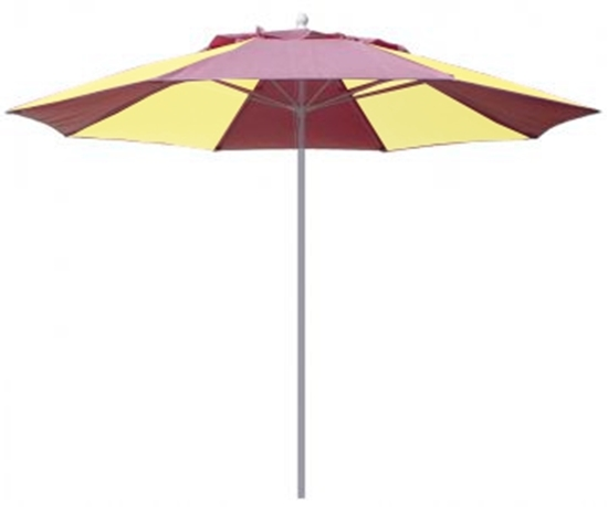 Picture of 9 ft. Market Umbrella - Two Piece Powder Coated Pole - Marine Grade Fabric - Alternating Colors