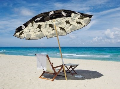 Picture of Guy Harvey 7.5 ft. Beach Umbrella -  Two Piece Wood Pole - Acrylic Fabric