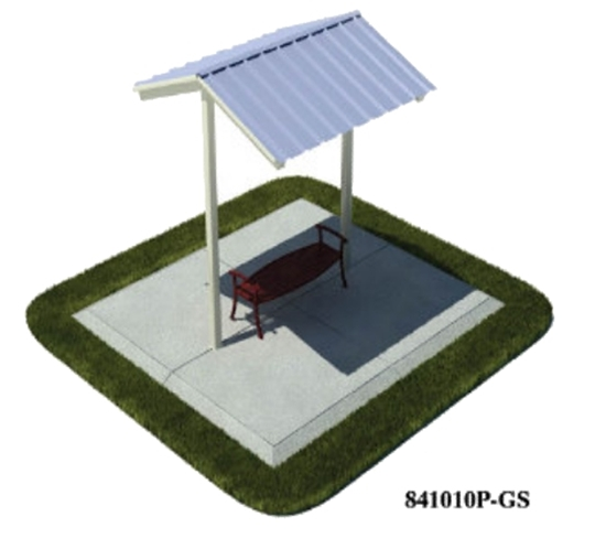 Picture of 10x10 Foot All-Steel Mini Shelter - Inground Mount