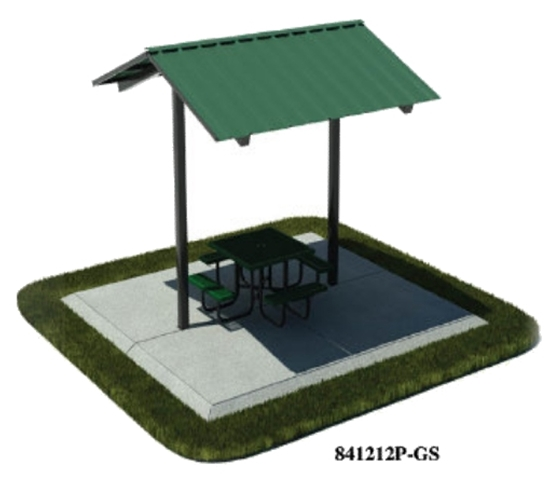 Picture of 12x12 Foot All-Steel Mini Shelter - Inground Mount