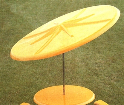 Picture of 7 1/2 Ft. Fiberglass Umbrella - 1 1/2 Inch Galvanized Pole