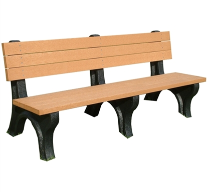 Picture of 6 Ft. Recycled Plastic Bench with Back - Deluxe Style - Portable