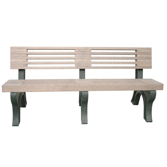 Picture of 6 Ft. Recycled Plastic Bench with Back - Low Maintenance Portable