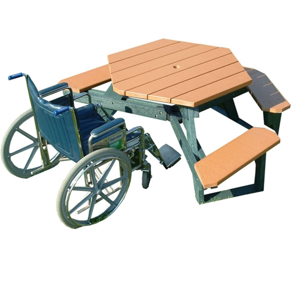 Ada Wheelchair Accessible Picnic Table Portable By