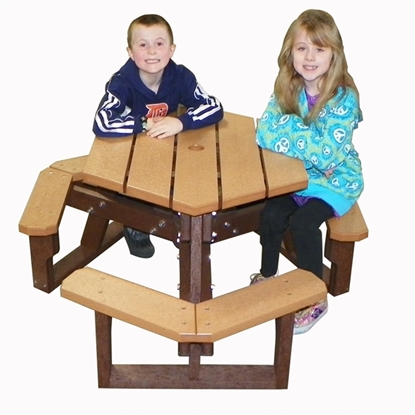 Picture of Child's Hexagon Picnic Table - Recycled Plastic - Portable