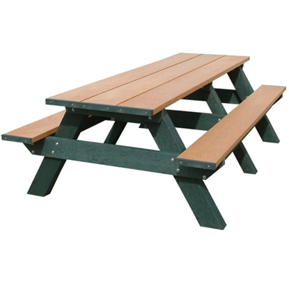 Picture of 8 ft. Recycled Plastic Rectangular Picnic Table - Portable