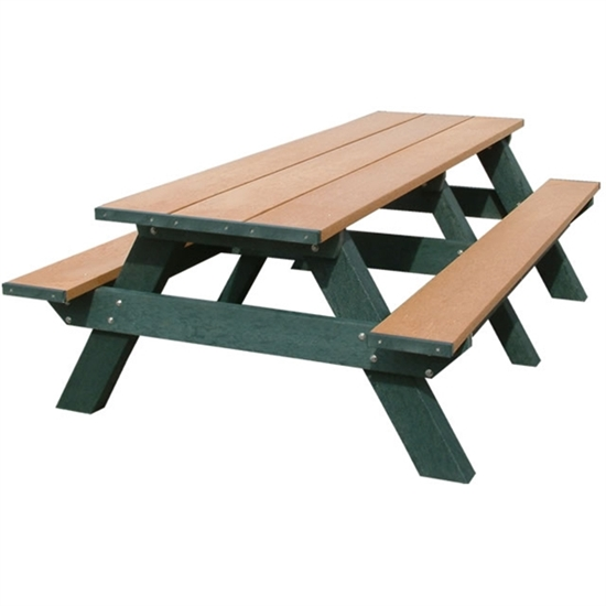 8 ft recycled plastic rectangular picnic table portable for Wheelchair accessible picnic table plans