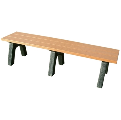 Picture of 6 Ft. Recycled Plastic Bench without Back - Traditional Style - Portable