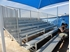 21 ft. 10 Row Bleacher with Guardrail - Aluminum with Galvanized Steel Frame