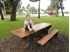 6 Ft Recycled Plastic Park Picnic Table - Portable