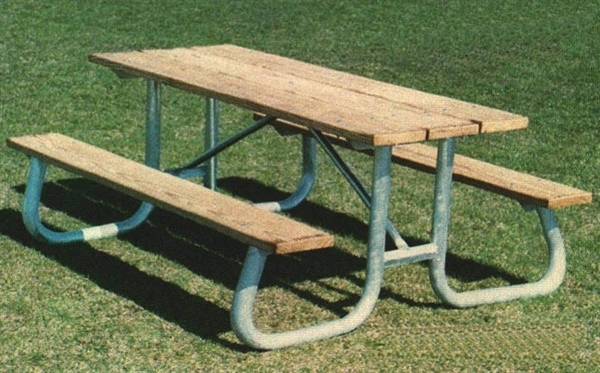 picture of frame kit for 12 ft picnic table welded 1 58 - Metal Picnic Table Frame