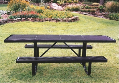 Picture of ADA Wheelchair Accessible Rectangular Picnic Table - Portable