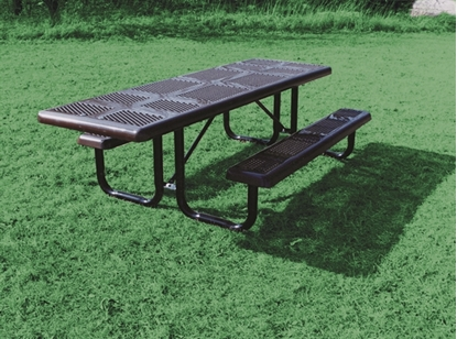 Picture of ADA Wheelchair Accessible Rectangular Picnic Table - Perforated