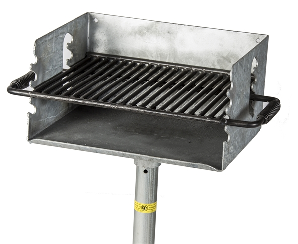 picture of flip grate park grill 300 sq inch cooking surface galvanized steel