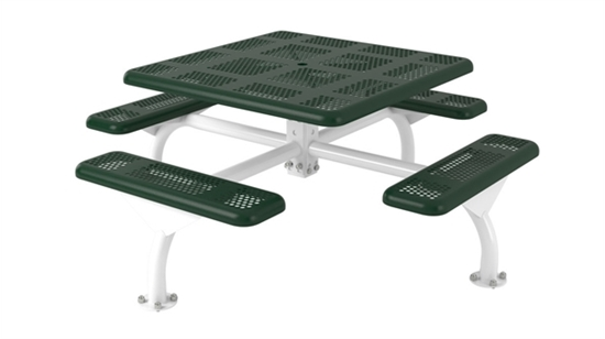 Picture of Square Picnic Table - Thermoplastic Perforated Metal - Portable