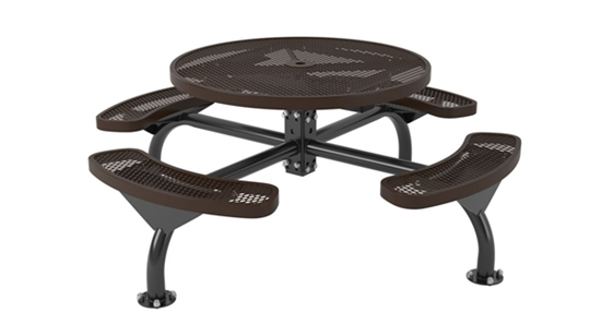 Picture of Round Thermoplastic Picnic Table - Expanded Metal - Portable