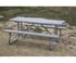 """6 Ft. Rectangular Aluminum Picnic Table - 1 5/8"""" Welded Frame - Portable"""