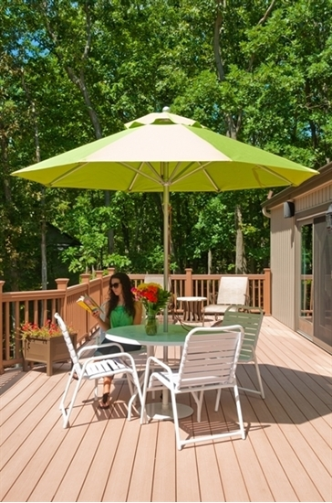 Picture of 11 ft. Octagonal Market Umbrella - Aluminum Ribs - Marine Grade Fabric