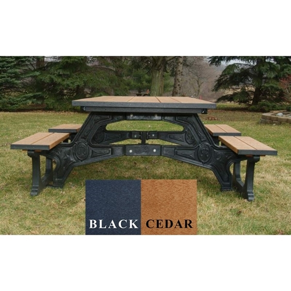 Ft Recycled Plastic Picnic Table Wheelchair Accessible - Wheelchair picnic table