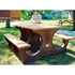 Picture of 6 Ft. Rectangular Recycled Plastic Picnic Table - Portable