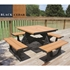 Picture of Recycled Plastic Square Picnic Table - Portable