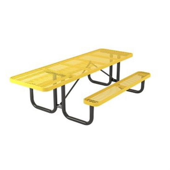 Picture of ADA Rectangular Thermoplastic Steel Picnic Table - Portable