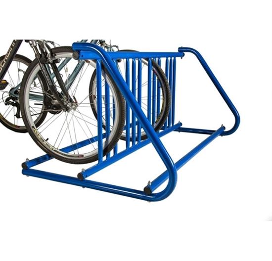"""W"" Bike Rack 18 Space - 10 Foot - Powder Coated Steel"