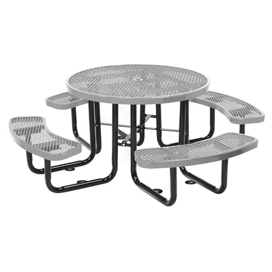 Picture of Round Thermoplastic Picnic Table - Portable or Surface Mount