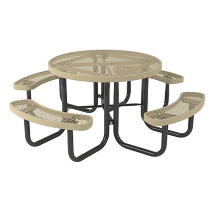 Round Thermoplastic Steel Picnic Table - Regal Style