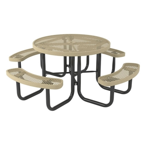 Picture of Round Thermoplastic Steel Picnic Table - Regal Style  - Portable