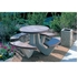Picture of Round Commercial Concrete Picnic Table - Portable