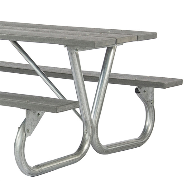 Frame Kit For Ft Or Ft Picnic Table Bolted Galvanized - Picnic table steel frame kit