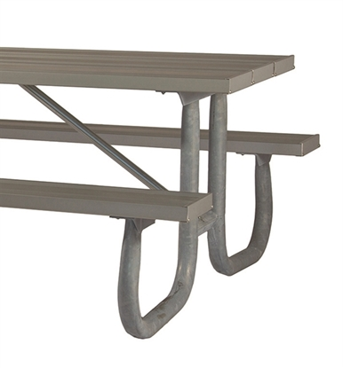 "Picture of Frame Kit for 6 ft Picnic Table - Welded 2 3/8"" Galvanized Steel - Portable"