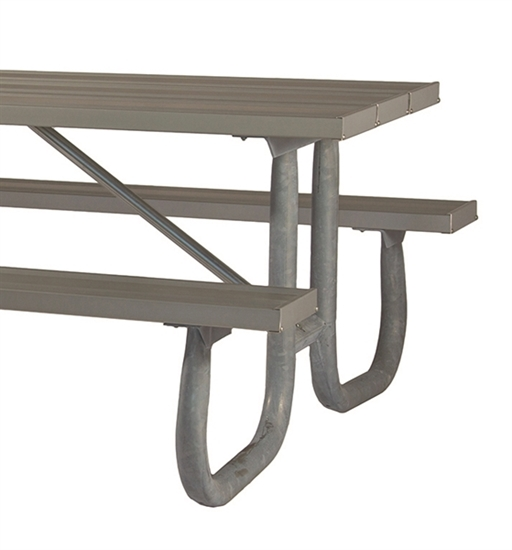 "Picture of Frame Kit for 8 ft Picnic Table - Welded 2 3/8"" Galvanized Steel"