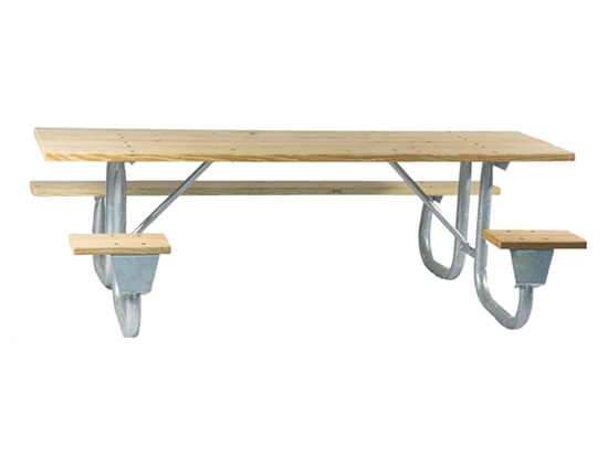 "Picture of ADA Frame Kit for 6 ft Picnic Table - Welded 2 3/8"" Galvanized Steel - Portable"