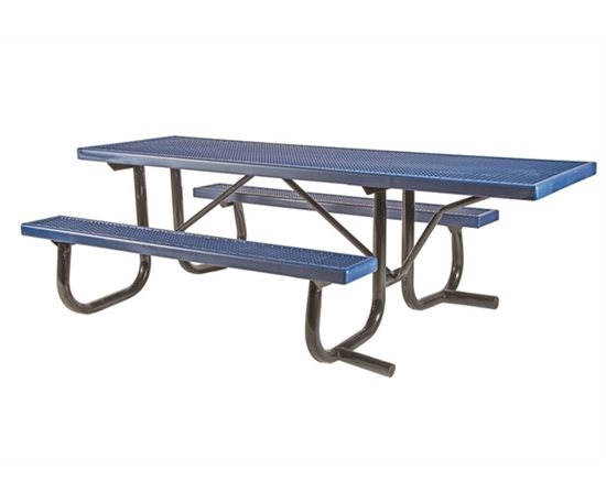 "Picture of ADA Frame Kit for 8 ft Picnic Table - Welded 2 3/8"" Galvanized Steel - Portable"