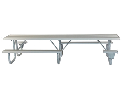 "Picture of ADA Frame Kit for 12 ft Picnic Table - Welded 2 3/8"" Galvanized Steel - Portable"