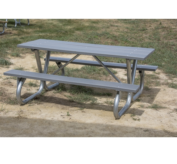6 Ft Recycled Plastic Picnic Table Bolted 2 3 8 Quot Frame