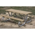"Picture of 6 Ft. Rectangular Wooden Picnic Table - 2 3/8"" Bolted Frame - Portable"
